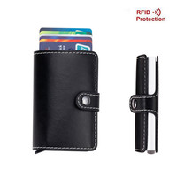 Hot Antitheft Men Wallets Aluminum Credit Card Protector Slim RFID Wallet Holder Case Automatic Business Cardholder porte carte