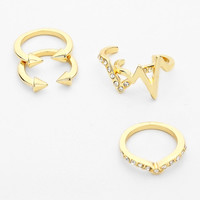 Chevron 5 Piece Knuckle Ring Set