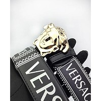 Versace hot seller of printed multicolored belts for men and women #1