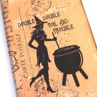 Witch Journal, Spell Book, Halloween Journal, Witch Notebook, Wiccan Journal, Halloween Notebook, Pretty Witch with Cauldron, Moleskine