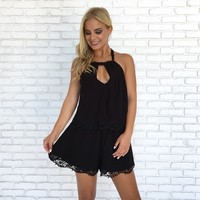 Frolic in the Fields Romper in Black