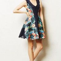 Garden Tightrope Dress by Anthropologie Blue Motif