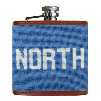 North Needlepoint Flask by Smathers & Branson