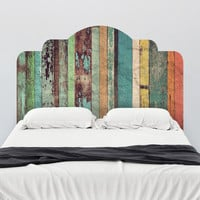 Distressed Panels Adhesive Headboard