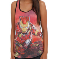 Marvel Avengers: Age Of Ultron Iron Man Girls Tank Top