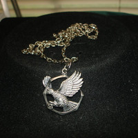 Flying Eagle Silver Tone Necklace