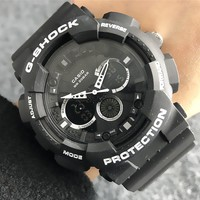 G-Shock Casio New fashion round shell letter dial analog digital chronograph couple watch wristwatch