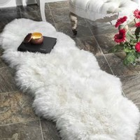 Rugs USA Shag Double Sheepskin with Faux Backing Natural Rug