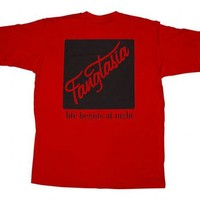 True Blood Fangtasia Life Begins At Night Red Adult T-Shirt - True Blood - | TV Store Online