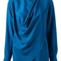 Cedric Charlier Draped Blouse