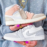 NIKE Air Jordan 1 new hot couple sports shoes