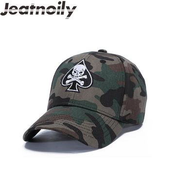 Trendy Winter Jacket High Quality Unisex Camouflage Outdoor Baseball Cap Skull Embroidery Snapback Fashion Sports Hats For Men & Women Caps AT_92_12