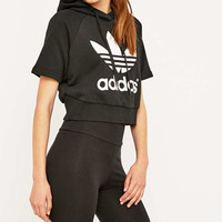 adidas Originals Vintage Cropped Trefoil Hoodie - Urban Outfitters