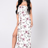 My Heart Is Singing Dress - White