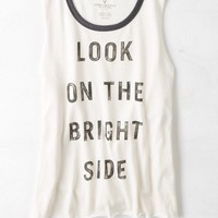 AEO Women's Graphic Muscle Tank (Toasted Coconut)