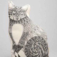 The Rise And Fall Cat Pillow- Black & White One