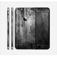 The Grunge Scratched Metal Skin for the Apple iPhone 6 Plus