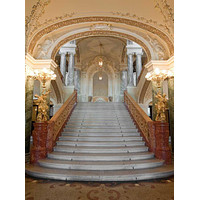 Printed Grand Ballroom Castle Staircase Backdrop - 325