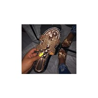 Imperial Topaz- Rose Gold Rhinestone Sandals