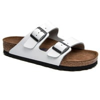Birkenstock White Patent Leather Arizona Sandal
