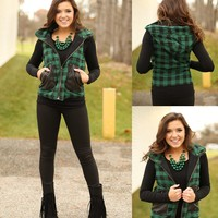 Home For The Holidays Vest in Green
