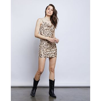 Dorinda Leopard Slip Dress