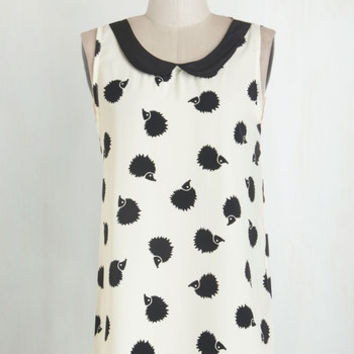 Woodland Creature Sleeveless Classy Collector Top in Hedgehog