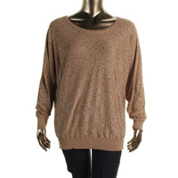 INC Womens Plus Knit Embellished Pullover Sweater