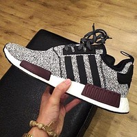 Adidas NMD_R1 J Trending Fashion Casual Running Sports Shoes Sneakers Grey G