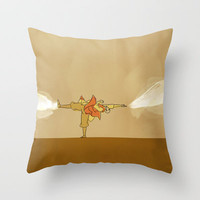 Avatar Aang Throw Pillow by Leesherv