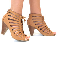 It's All A Facade Lace Up Ankle Booties