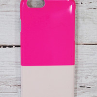 IPHONE 6/6S CASE - NEON PINK + BLUSH