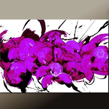 Abstract Art Print Contemporary Large Canvas Art Prints by Destiny Womack - So Many Thoughts- dWo