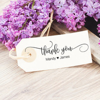 Personalized Thank You Stamp - Thank You Wedding Stamp - Thank You Rubber Stamp - Wedding Favor Stamp - Wedding Thank You - Includes Proof