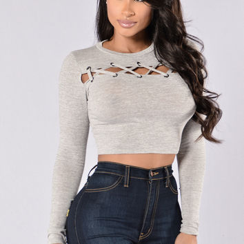 Mad House Top - Heather Grey