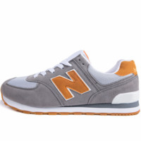 New Balance trend leisure couple models N word sports shoes grey