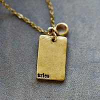 Stamped Zodiac Necklace