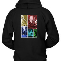 One Punch Man Saitama Genos Anime Manga Hoodie Two Sided