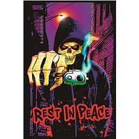 Grim Reaper Rest in Peace Blacklight Poster 23x35