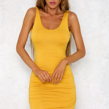 Hold You Up Dress Mustard