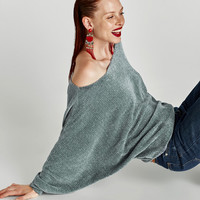 CHENILLE BATWING SLEEVE SWEATER