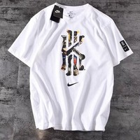 NIKE Trending Popular Men Women Casual Print Round Collar Sport T-Shirt Top