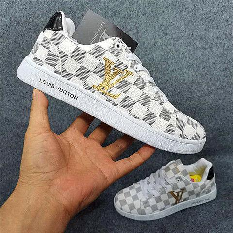 Image of Louis Vuitton LV sneakers sports casual shoes men and women trendy fashion all-match shoes white shoes