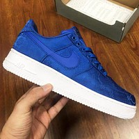 NIKE Air force 1 Low New fashion hook couple sports leisure shoes Blue