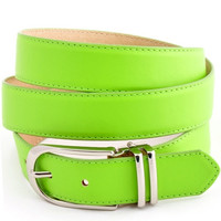 Lime Green Wide Belt
