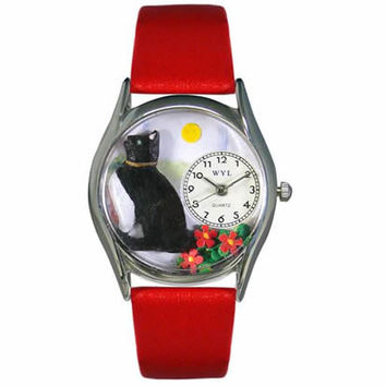 Basking Cat Watch Small Silver Style