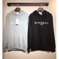 GIVENCHY Trending Women Men Casual Print Hoodie Cute Sweater Sweatshirt