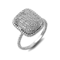 Susanna's Antique Inspired Pave Set Cocktail Ring