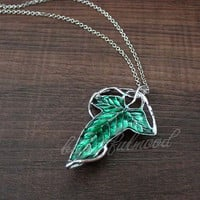 The Lord of the rings jewelry necklace The elves Brooch Leaves Brooch with chain