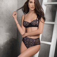 Lace Bralette & High Waisted Panty